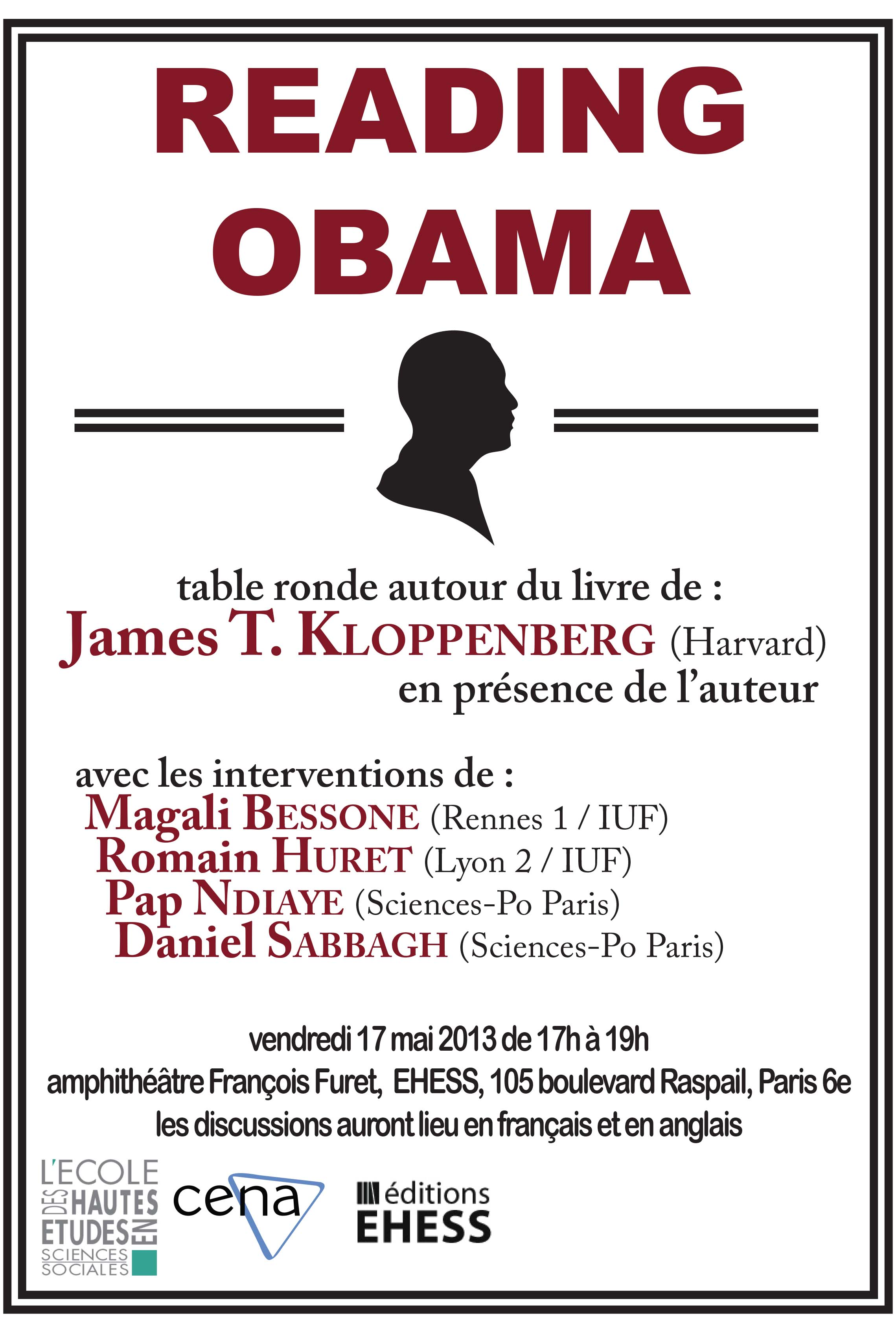 Table ronde autour de l'ouvrage : Reading Obama. Dreams, Hope, and the American Political Tradition